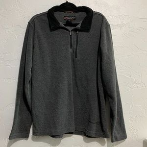 Free Country Mens Gray Fleece 1/4th Zip Large